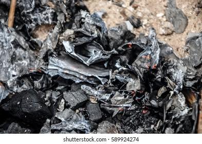Ash of bonfire