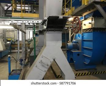 Ash conveyor belt coal power station