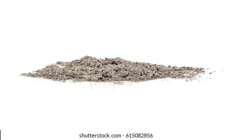 Ash isolated on white background.