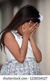 Ashamed Pretty Asian Child