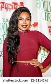 Ashanti attends 87th Annual Hollywood Christmas Parade on Hollywood Boulevard, Los Angeles, California on November 25th, 2018