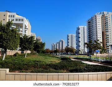 Ashdod - city in Israel - big avenue