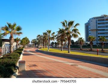 Ashdod - city in Israel - sea promenade