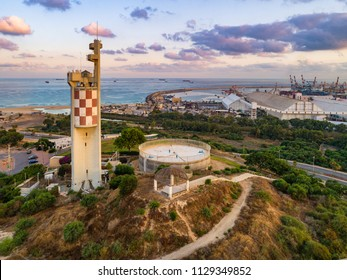 Ashdod, Israel - 3 July, 2018: Tradition has it that Jonah the Prophet was buried on this hill Ashdod. During the British Mandate, soldiers used this hill to prevent Jewish immigrant ships docking