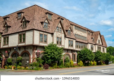 Asheville, NC / USA - May 10, 2019: The Grand Bohemian Hotel in Biltmore Village.
