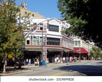ASHEVILLE, NC / USA - SEPT 2015: Downtown Asheville, North Carollina on a Summer Day