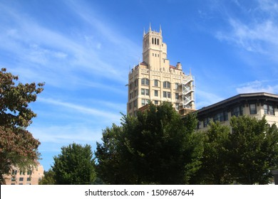 ASHEVILLE, NC / USA - Sept 2015: Jackson Building in Downtown Asheville, North Carolina