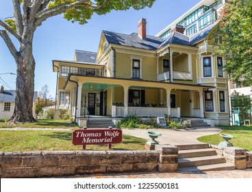 ASHEVILLE, NC, USA-10/25/18: The boyhood home of American author, Thomas Wolfe.
