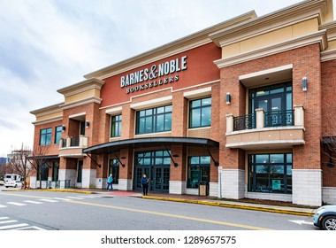 ASHEVILLE, NC, USA-1/18/19:  A Barnes & Noble store at Asheville mall on Tunnel Road.