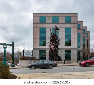 ASHEVILLE, NC, USA-1/18/19: Veach-Baley Federal Complex, adjacent to the US Federal Courthouse.