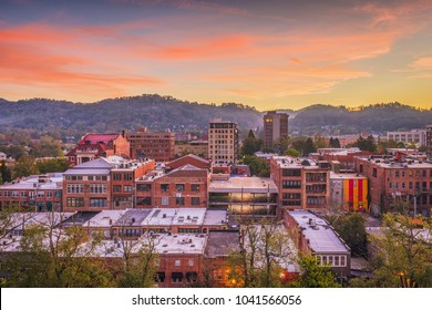Asheville, North Caroilna, USA downtown skyline at dawn.