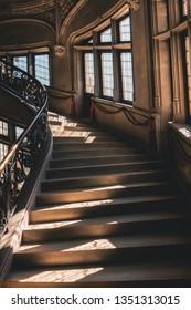 Asheville North Carolina, October 24th 2018: Biltmore Estate Stone Staircase
