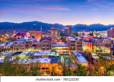 Asheville, North Carolina, USA downtown skyline.