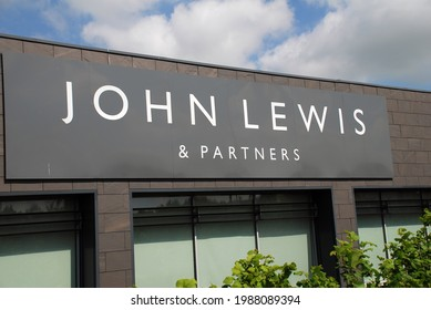 ASHFORD, KENT - JUNE 3, 2021: Exterior of a John Lewis department store. Opened in 2013, it is one of eight branches to permanently close down in 2021.