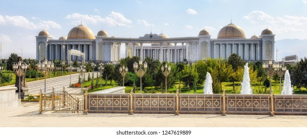 Ashgabat, Turkmenistan - October 06, 2015: The State Cultural Centre of Turkmenistan  is a multipurpose performance facility in the Ashgabat, Turkmenistan.