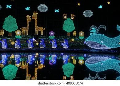 Ashikaga flowers Park winter illuminations