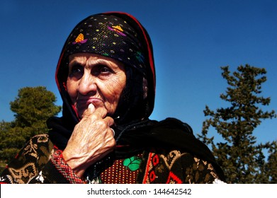 ASHKELON, ISR - MAR 04:Old Yemeni women on Mar 04 2007.Most Yemenite Jews now live in Israel, with some others in the United States, and fewer elsewhere. Only a handful remain in Yemen, mostly elderly