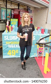 Ashley Benson at the Launch of 7-Eleven's Summer Slurpee Days , 7-Eleven, Los Angeles, CA 05-22-13