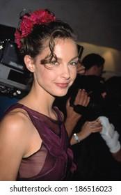 Ashley Judd wearing an Alberta Ferretti dress at the opening of the Philisophy of Alberta Ferretti store in SoHo, NYC, 9/14/98