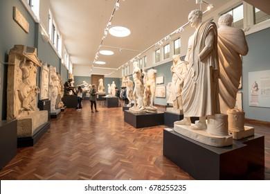 Ashmolean Museum interior,England,Oxford,UK,June 27,2017