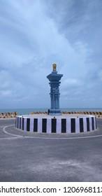 Ashoka pillar at Dhanushkodi