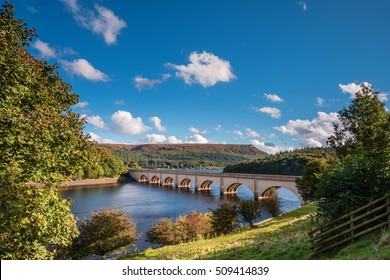 Ashopton Viaduct above Ladybower Reservoir / Ladybower Reservoir is situated in the Upper Derwent Valley, at the heart of the Peak District National Park