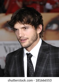 Ashton Kutcher, wearing Gucci, at Premiere of WHAT HAPPENS IN VEGAS, Mann's Village Theatre in Westwood, Los Angeles, CA, May 01, 2008