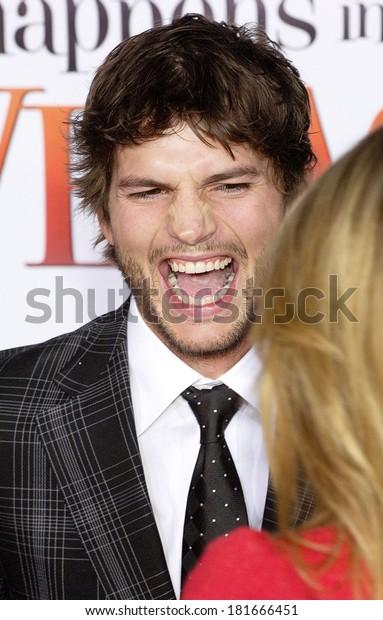 Ashton Kutcher What Happens Vegas Premiere Celebrities Stock Image 181666451