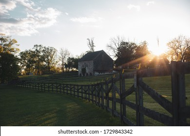 Ashton - Silver Spring, Maryland / USA - May 12, 2020: The Woodlawn Manor House provides a glimpse into Montgomery County's agricultural past. It is part of the Underground Railwood Trail.