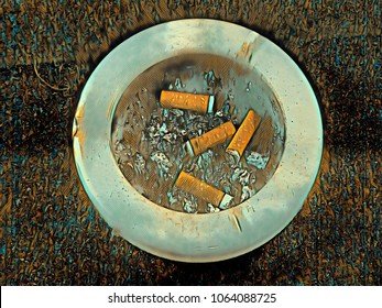 ashtray and cigarette 'picture'