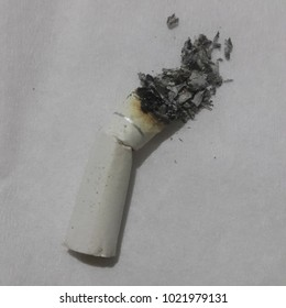 ashtray cigarette with white background