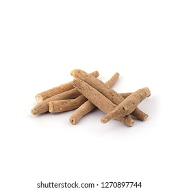 Ashwagandha Stems Raw isolated on White background