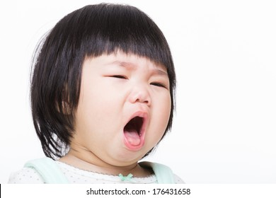 Asia baby girl cough