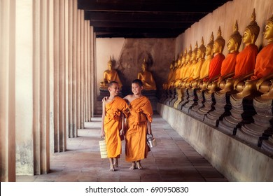 Asia boys ordination is novice for study disciplines of Buddhism.