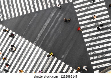 Asia Business concept for real estate and corporate construction - panoramic urban city aerial view with crosstown traffic in ginza, tokyo, Japan