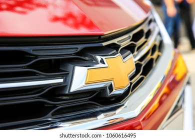 ASIA CHINA SHANGHAI - September 7, 2017: The Chevrolet Cruze Ring Kings Challenge in Shanghai, Chevrolet's loge was shot by media reporters