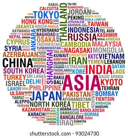 asia countries and cities