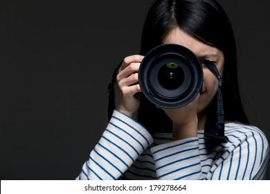 Asia female photographer