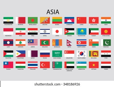 Asia Flag Collection
