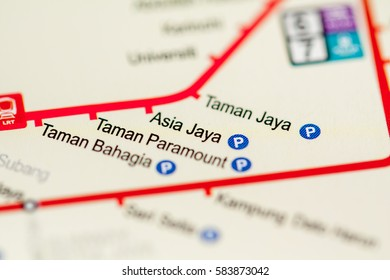 Asia Jaya Station. Kuala Lumpur Metro map.