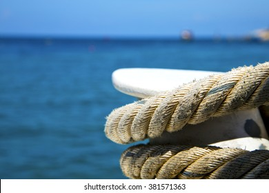 asia in the  kho tao bay isle white  ship   rope  and south china sea  anchor