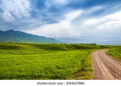 Asia landscape. Kyrgyzstan, Baitik