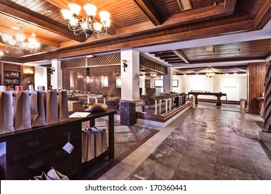 asia style tea room interior