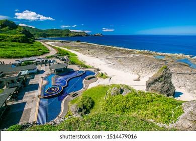 Asia Taiwan green island natural landscape