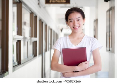 asia thai china student university beautiful girl read a book