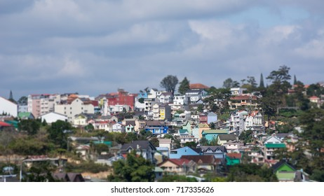 Asia Vietnam Dalat color riotous with colour shift house
