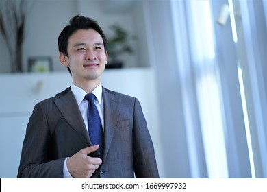 Asian Alone Businessman Japanese Korean Chinese