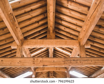 Asian authentic wood ceiling