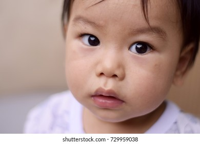 Asian baby boy close-up