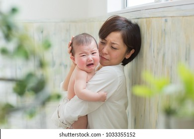 asian baby boy crying
